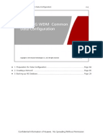 NG WDM Common Data Configuration