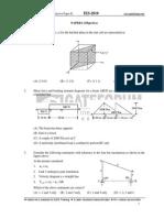 ME Objective Paper II 2010