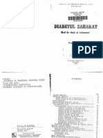 Diabetul Zaharat. Mod de Viata Si Tratament, Iulian Mincu, Ed. Medicala 1985