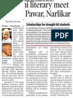 Marathi Literary meet to host Pawar, Narlikar