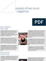 Textual Analysis of Two Music Magazines
