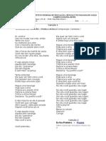 Cantigas Satíricas Contemporâneas; Teorema de Carlão(Pedra letícia); Eu Sou Problema (Projota)