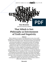Ray Brassier That Which is Not Philosophy-As-Entwinement-Of-truth-And-negativity