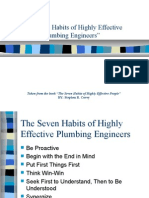 The Seven Habits of Highly Effective Plumbers