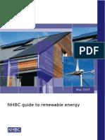 NHBC Guide to Renewable Energy