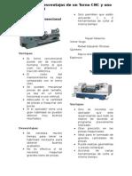 Ventajas y Desventajas de Un Torno CNC y Uno Convencional