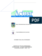 Servicio de Asesoria y Servicio Tecnico Para Microempresas - Informe Final Del Ejecutor - MIF-At-203