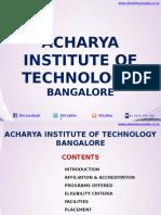 Acharya Institute of Technology Bangalore|MBA|AIT