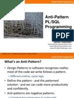 Anti-Pattern PLSQL Programming