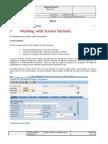 SAP Screen Variants