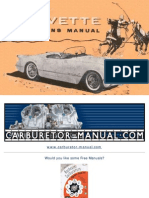 1953 1954 1955 Corvette Operations Manual