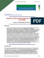 Hacia Una Visión Social Integral de La Ciencia y La Tecnología, Fidel Martínez Álvarez.
