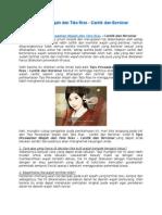 Tips Perawatan Wajah Dan Tata Rias