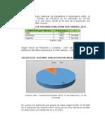 Información Estadística - Distrito Chicama