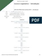 Módulo III - Etapas Do Processo Legislativo - Introdução
