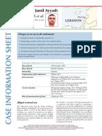 Case info sheet - Salim Jamil Ayyash