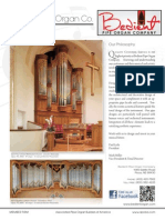 Prospectus Bedent Pipe Organ Co