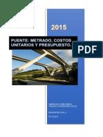 Puente.metrados Costos y Presupuesto
