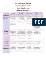 core french rubric evaluation