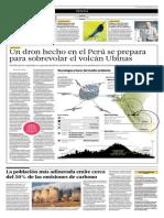Un Dron Hecho en El Perú Se Prepara Para Sobrevolar El Volcán Ubinas