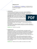 Niveles de Certificacion SAP