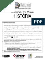 Prefeitura Itaboraí RJ 2011 Prova Historia
