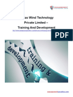 Vestas Wind Technology Private Limited - Training and Development