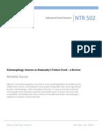 entomophagy research paper michelle garvie