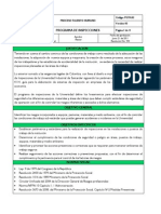 Modelo de programa de inspecciones