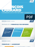 PROPOSED SET OF PRINCIPLES FOR REFORMS