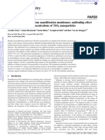 Doping of Polyethersulfone Nanofiltration Membanes Antifouling Effect Observed at Ultralow Concentration of TiO2 Nanoparticles