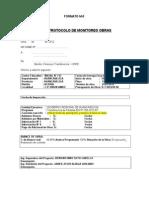 Formato M-5 Protocolo de Monitoreo de Obras-union Ambo