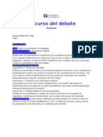 protocolo debate