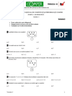Subiect Si Barem Matematica EtapaI ClasaI 10-11