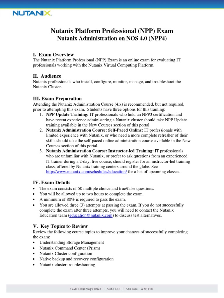 Nutanix npp exam study guide professional certification test nutanix npp exam study guide professional certification test assessment 1betcityfo Image collections