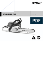 Stihl MS241 C-M Owners Manual