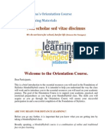 orientation course sample learning materials