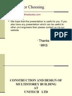 Design of Multistorey Buildings (Overview)
