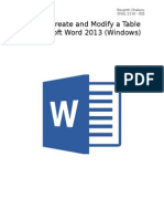 how to create and modify tables in microsoft word 2013 final