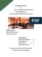 14142906 Feasibility Report on Restaurant