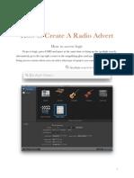 How to create a radio advert Logic