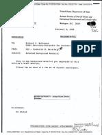 Memorandum by Frederick M. Bernthal -  Feb. 9, 1989