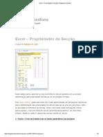 Excel – Propriedades Da Seção