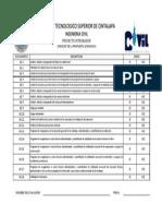 Checklist Propuesta Economica Proyecto Integrador
