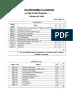 Scheme & Syllabus MBA Updated 2015