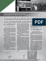 Industrialización en Bolivia, una asignatura pendiente