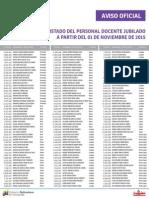 Lista de Docentes Jubilados ME Noviembre 2015 - Notilogía