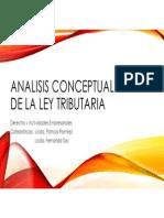 Análisis Conceptual de La Ley Tributaria