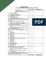 Cuestionario Auditoria y Control Interno
