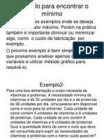 Exemplo de Mínimo de Modelo de PL